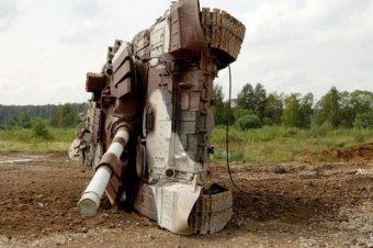 Во время Международных армейских игр в Алабино перевернулся танк