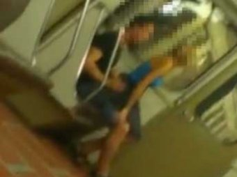 Трах в русском метро