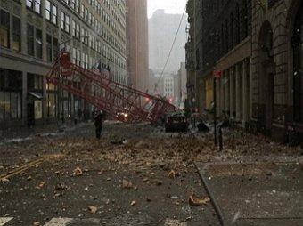 В центре Нью-Йорка рухнул огромный башенный кран