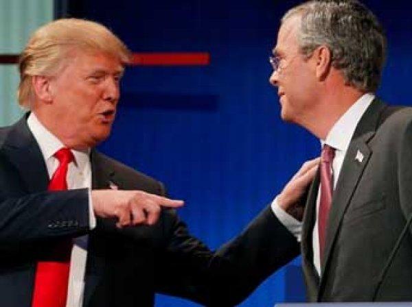 Буш и Трамп во время теледебатов поспорили из-за России