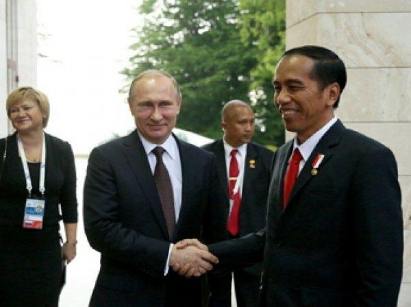 Путин пошутил про опоздание индонезийской делегации на встречу в Сочи