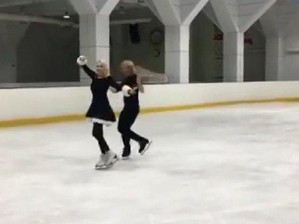 Яна Рудковская: видео танца на льду