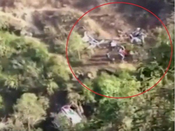Авария в Крыму 11 августа: опубликованы ФОТО и ВИДЕО с места падения автобуса с обрыва