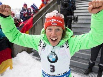 Немецкая биатлонистка Дальмайер взяла золото на индивидуальной гонке КМ, Россия только шестая