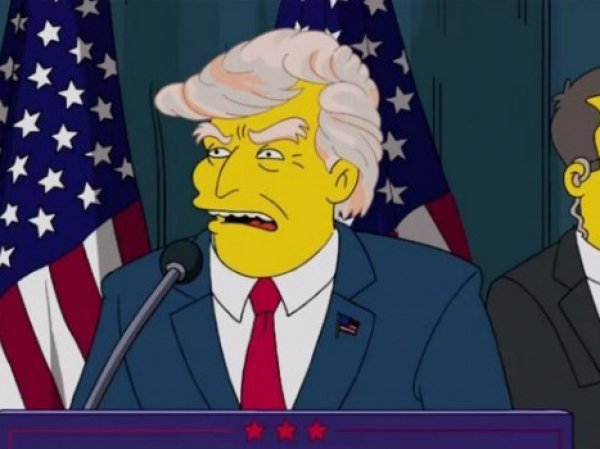 """Симпсоны"" предсказали президентство Трампа еще в 2000 году (ВИДЕО)"