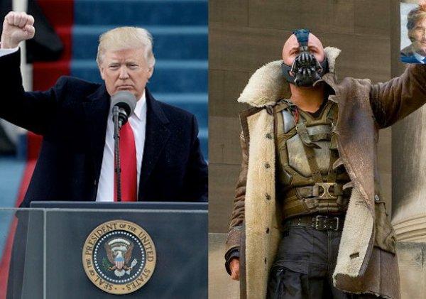 """YouTube ВИДЕО: блогеры сравнили речь Трампа и злодея Бэйна из """"Темного рыцаря"""""""