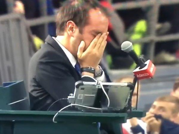 YouTube ВИДЕО: канадский теннисист во время матча попал мячом судье в глаз