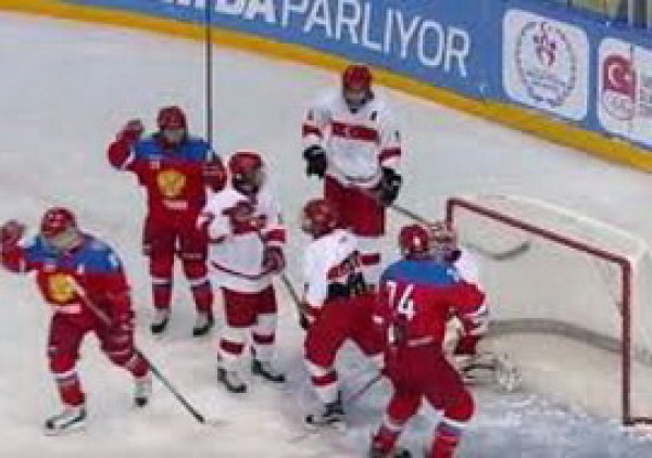 На YouTube появилось ВИДЕО разгрома Турции хоккеистами России со счетом 42:0!