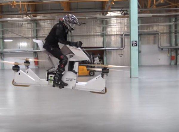 YouTube ВИДЕО: в Москве испытали первый в мире летающий мотоцикл из России