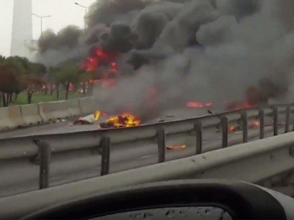 В Стамбуле разбился вертолет с россиянами на борту: погибли 5 человек (ВИДЕО)