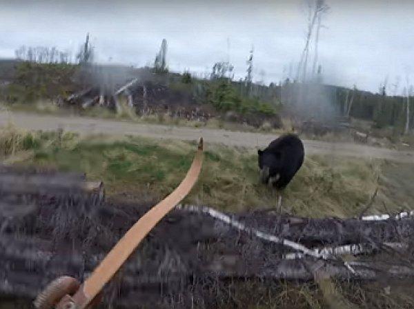 YouTube ВИДЕО: канадский охотник чудом пережил встречу с медведем