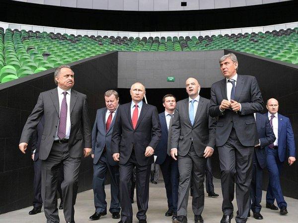 Путин показал президенту ФИФА стадион в Краснодаре, на котором не будет матчей ЧМ-2018 (ВИДЕО)