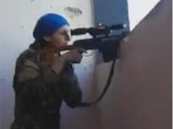 Обнародовано ВИДЕО дуэли в Сирии с участием девушки-снайпера