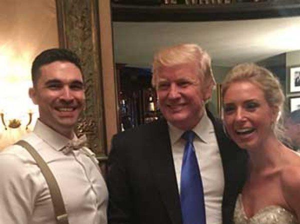 Трамп по ошибке зашел на чужую свадьбу (ВИДЕО)
