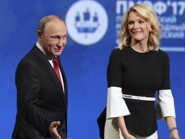"""""""Таблетку что ли дать?"""": телеведущая NBC News Мегин Келли устроила """"допрос"""" с пристрастием Путину на ПМЭФ (ВИДЕО)"""