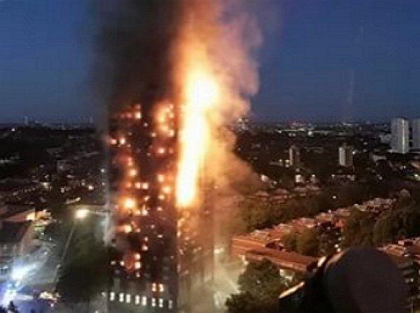 Опубликовано видео из сгоревшего небоскреба в Лондоне