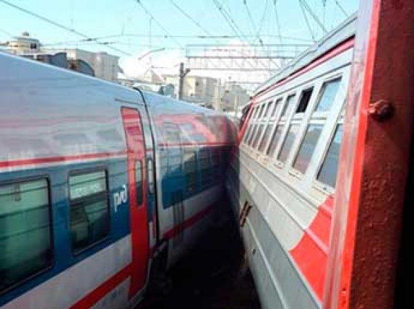 Поезд столкнулся с электричкой на Курском вокзале в Москве: есть пострадавшие (ВИДЕО)