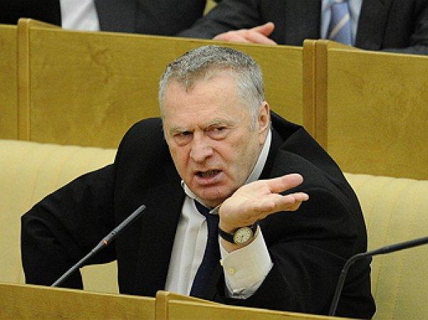 Промокший Жириновский потребовал разогнать Мосгидромет