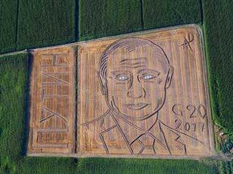"""В Италии фермер трактором """"нарисовал"""" на поле огромный портрет Путина (ВИДЕО)"""