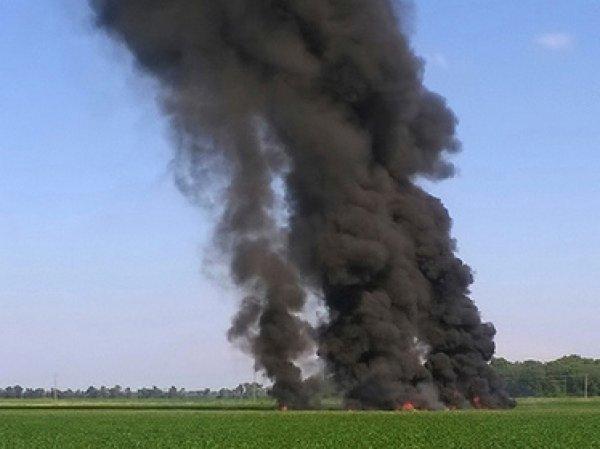 Жертвами крушения военного самолета в США стали 16 человек (ВИДЕО)