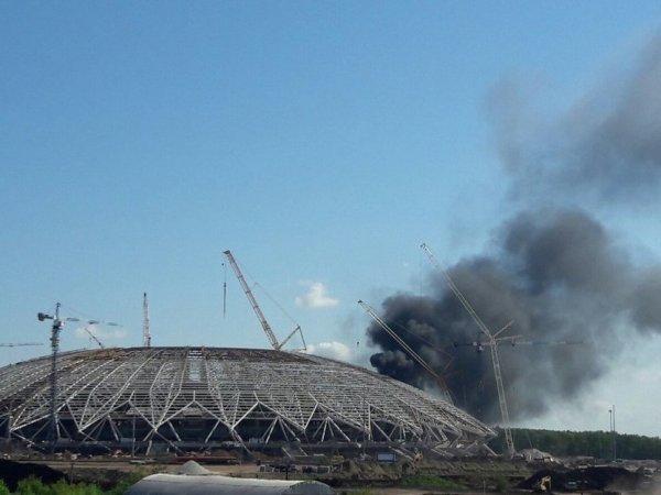 В Самаре загорелся стадион, построенный к ЧМ-2018 по футболу