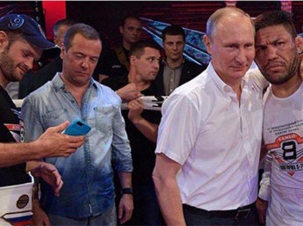 """""""Тонировка для трусов"""": в Сети высмеяли Медведева из-за ФОТО в странной одежде"""