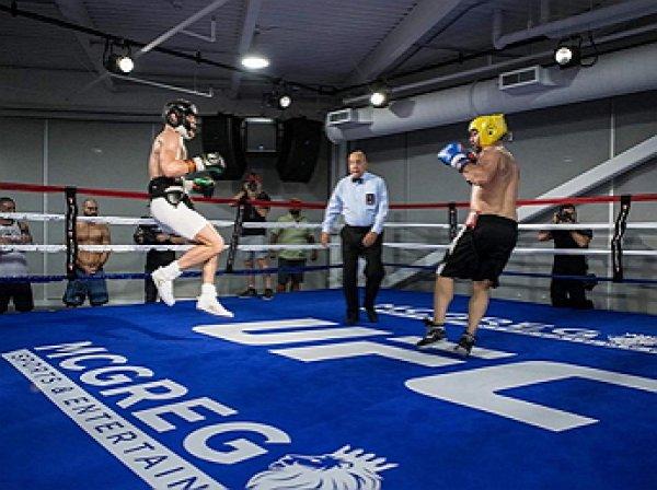 Опубликовано видео спарринга Макгрегора и экс-чемпиона мира по боксу Малиньяджи