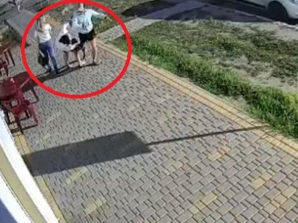 В Сети за  ищут злоумышленника, отправившего без причины в нокаут девушку на улице