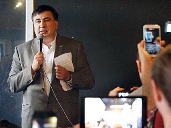 Саакашвили устроил в Литве акцию протеста против лишения гражданства Украины