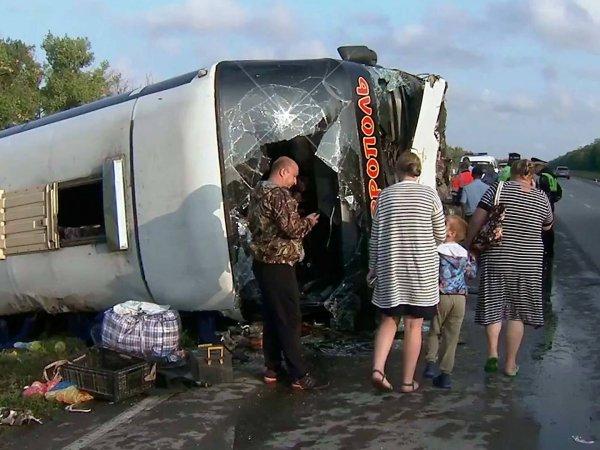 Авария в Ростовской области: пострадали 27 человек (ВИДЕО)