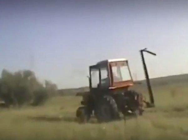 На YouTube появилось ВИДЕО погони полиции со стрельбой за пьяным трактористом под Иркутском