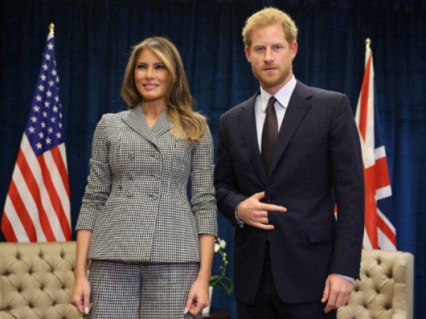 Жест принца Гарри на фото с Меланией Трамп озадачил соцсети: блогеры строят разные версии