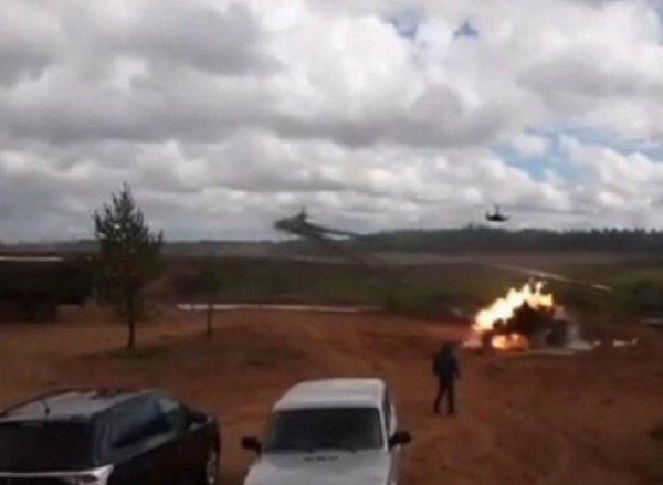 СМИ выяснили, почему вертолет Ка-52 открыл стрельбу по зрителям на учениях