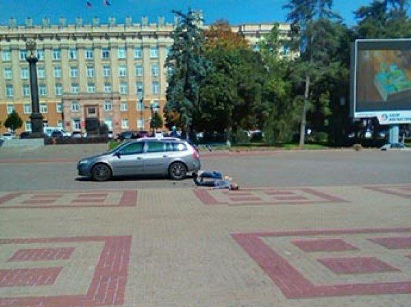 Стрельба возле трупа на центральной площади Белгорода попала на видео