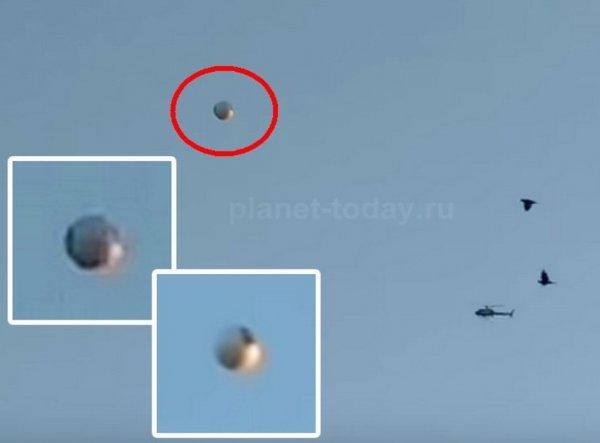 На YouTube очевидцы выложили ВИДЕО контакта вертолета с НЛО в небе США