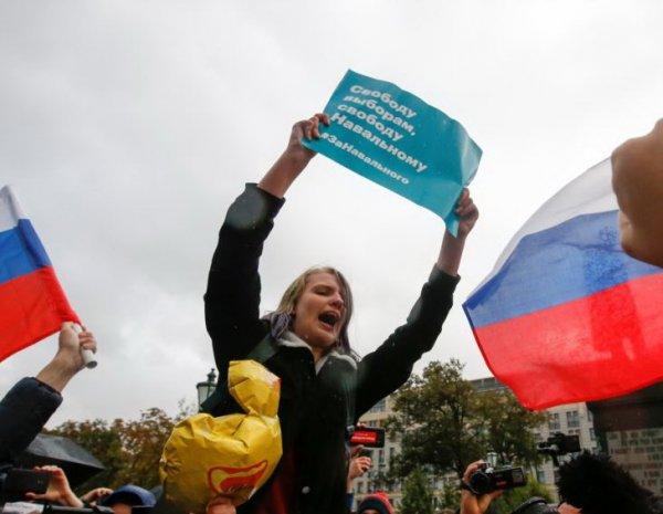 Полиция задержала около 290 человек на акциях Навального
