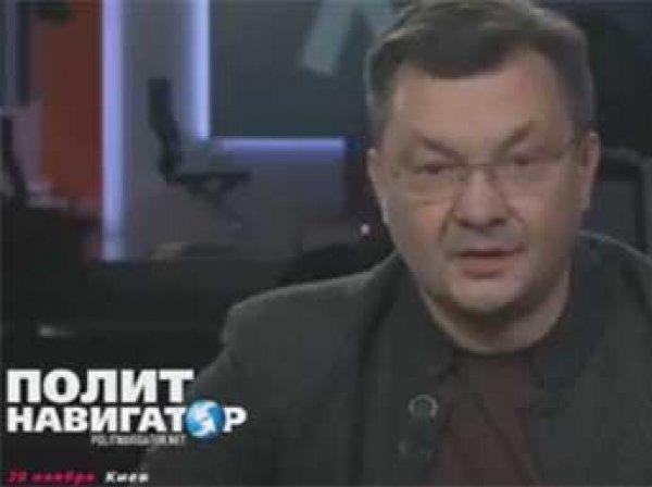 Угрозы Порошенко довели украинского ведущего до слез в прямом эфире