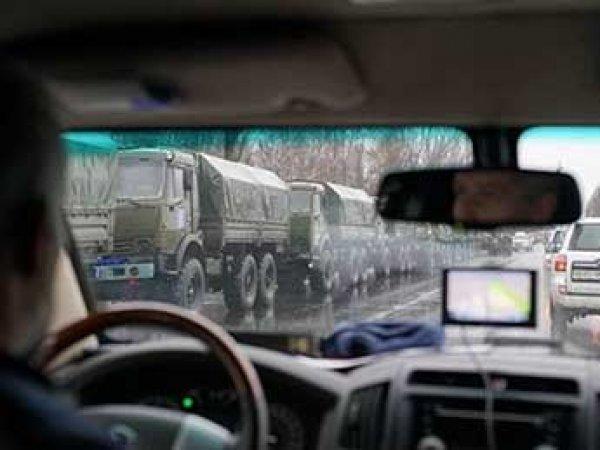 Миссия ОБСЕ показала фото колонны военной техники в Луганске