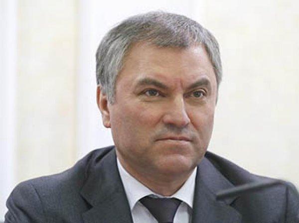 """Спикер Госдумы Володин предложил """"зеркально"""" ответить на """"хамское"""" поведение США"""
