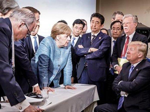 Фото Меркель с саммита G7 стало мемом в соцсетях