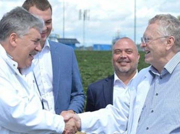 Из-за поражения Бельгии на ЧМ-2018 Грудинин проиграл Жириновскому центнер клубники