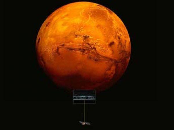 На Марсе впервые обнаружили озеро с жидкой водой