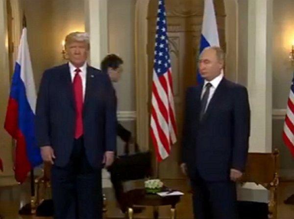 Трамп подмигнул Путину на пресс-конференции в Хельсинки