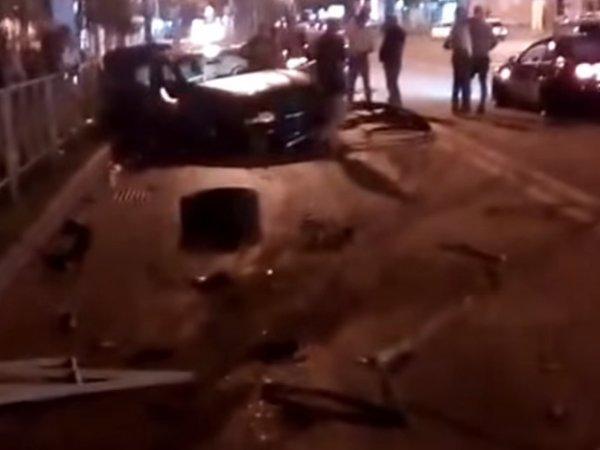 Момент аварии с участием Федора Смолова попал на видео