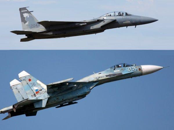 Стал известен победитель боя Су-27 и F-15 на Украине