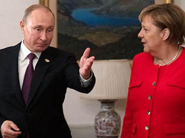 Меркель и Макрон растерялись после того, как Путин в рисунках объяснил им инцидент в Керченском проливе