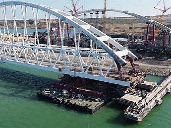 СМИ: строительство Крымского моста могут остановить - он разъезжается в разные стороны (ФОТО)