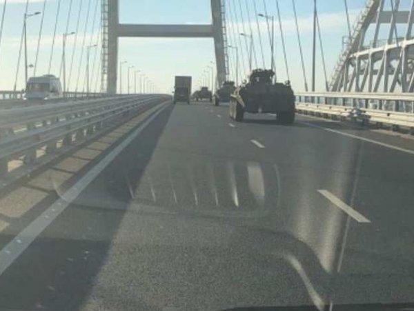 Видео переброски военной техники по Крымскому мосту появилось в Сети