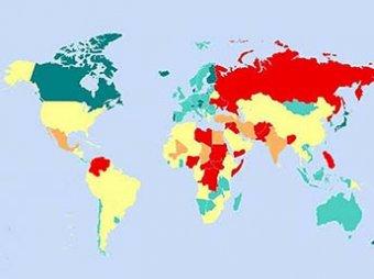 Составлен рейтинг самых безопасных стран мира: России нет даже в сотне