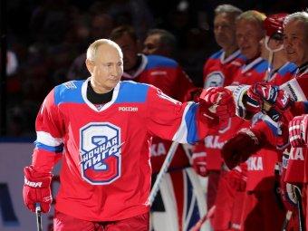 Путин побил личный рекорд, забросив 10 шайб в матче НХЛ. А потом упал, запнувшись о ковер (ВИДЕО)